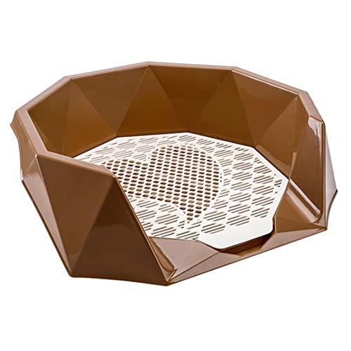 ZMYLOVE Indoor Hundetoilette, Welpen-Trainings-Pad Tragbare Pet-WC-Tablett Training-Pad mit Zaun Einfacher Aufräumen für mittlere kleine Hunde im Innen- und Außenbereich,E,XS (Hund Katzenklo Innen)