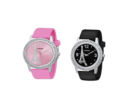 Combo Pack of 2 Crude Analog Multi-Color dial Women's Watch-rg746