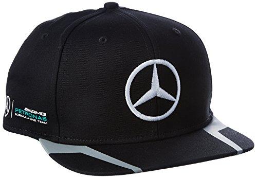 mercedes-amg-petronas-herren-hamilton-flat-cap-2016-black-kappe-schwarz-one-size
