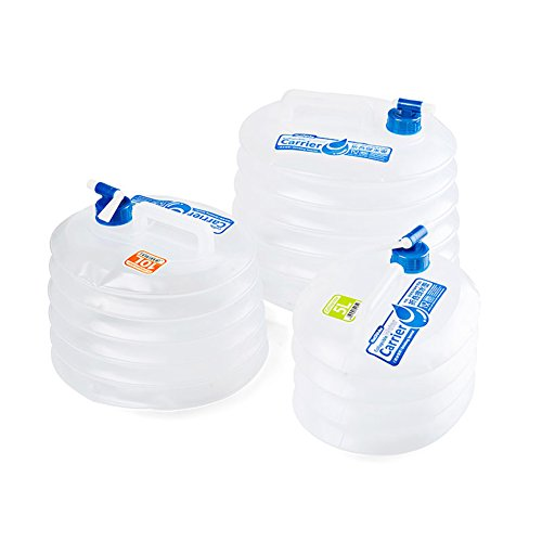 Hete-supply klappbar BPA-frei Tragbare Wasserbehälter Wasser Tasche Wasser Outdoor Storage Notfall Wasser Tasche Wasser Krug Faltbarer Wasser Eimer für BBQ Camping Wandern Picknick Notfall, 10 l