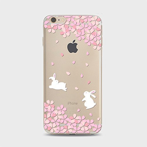 Coque iPhone 6 6s Housse étui-Case Transparent Liquid Crystal Sakura en TPU Silicone Clair,Protection Ultra Mince Premium,Coque Prime pour iPhone 6 6s-style 1 style 12