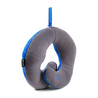 BCOZZY Chin Supporting Travel Pillow - Supports the Head, Neck and Chin in Maximum Comfort, 2015 Travel Goods Show's Best Travel Accessory Nominee - (ADULT SIZE). A Patented Product.