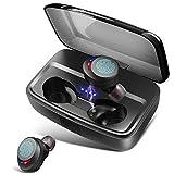 Wireless Headphones Bluetooth Earphones IPX8 Waterproof Deep Bass Stereo Sound Wireless Earphones Built-in