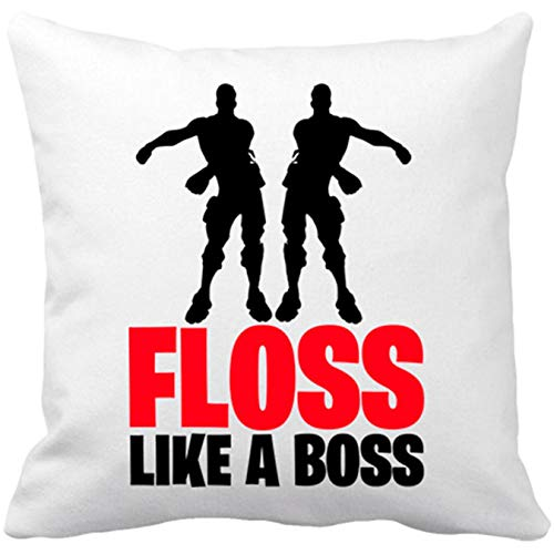 Cojín con Relleno Baile Floss Like A Boss - Blanco, 35 x 35 cm