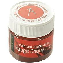 Les Artistes-Paris A-0403 - Colorante alimentario, color rojo amapola