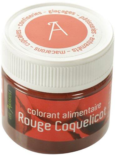 Les artistes - paris a-0403 - colorante alimentare, colore: rosso papavero