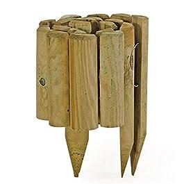 VERDELOOK Vampiro, Bordura a Rotolo per Protezione Piante e Fiori, 110×5 cm Altezza 35 cm
