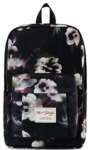 Imagen de hotstyle hoppor  floral 24l  bolsa moda impermeable para portatil de 15,6 pulgadas  negro alternativa
