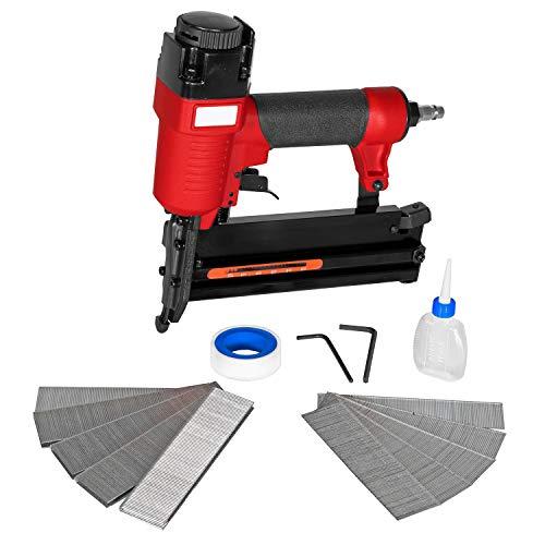 Druckluft Tacker und Nagler Set für Kompressoren inkl. Zubehör Klammern und Nägel