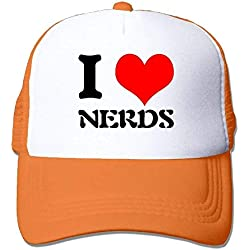 dfegyfr I Love Nerds Adjustable Sports Mesh Baseball Tapas Trucker Cap Sun Hats Multicolor61
