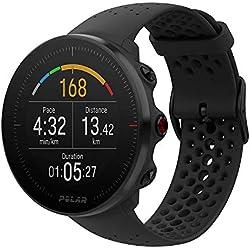 Polar Vantage M - Reloj multisport con GPS, pulsómetro en la muñeca, notificaciones, pantalla a color - Negro, Talla S (130-175 mm)
