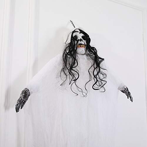 SilenceID Halloween hängende Ghost Anhänger Halloween hängende Ghost Tuch Tür hängen Dekor beängstigend Halloween Requisiten