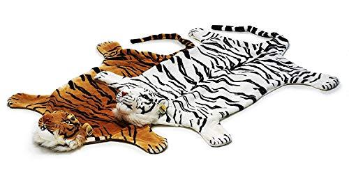 GYD Tigerfell Teppich Bettvorleger Tiger Fell Braun weiß (Tigerfell Braun)