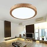 Moderne minimalistische mode gummi holz deckenleuchte wohnzimmer schlafzimmer studie wohnzimmer deckenleuchte, 34 CM