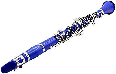 XIE@Cielo azul clarinete B guantes de distribución cañas de clarinete plana destornillador de limpieza de tela caja dedicada Instrucciones