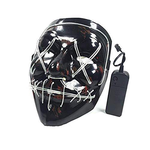 Carry stone Premium-Qualität Maske LED lila Maskerade Maske 4 Modi Perfekt für Weihnachten Halloween Kostümpartys, Maskeraden