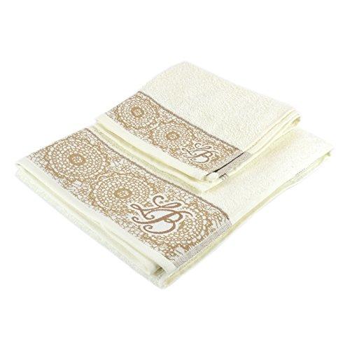 Preisvergleich Produktbild Paar Handtuch Piu 'Gästehandtuch Laura Biagiotti
