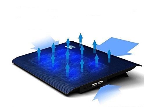 Base de Refrigeración Portátil, Foneso Laptop Cooling Pad Enfriador con 6 Ventiladores...