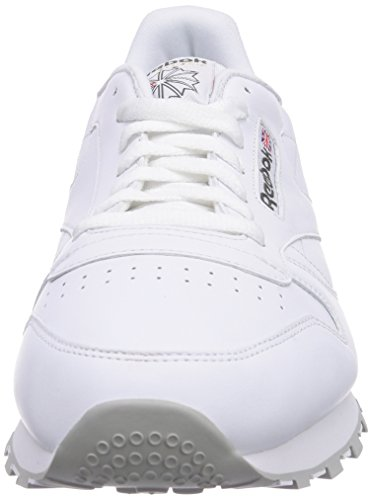 Reebok Classic Leather, Sneakers Basses Homme Blanc (White/Grey)