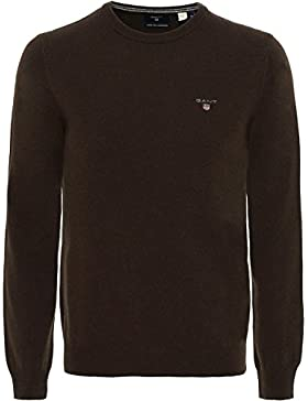 Gant, Jersey de cuello redondo en lana de oveja - M
