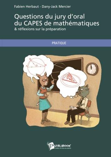 Questions du jury d'oral du CAPES de mathématiques
