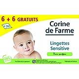 Corine de Farme Jumbo Pack de 12 Paquets de Lingettes Change Sensitive avec Dévidoir x 62 6