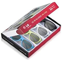 LG AG-F315 - Gafas 3D (4 unidades), multicolor
