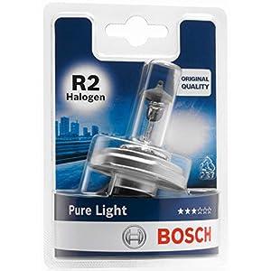 Lámpara Bosch para faros: Pure Light R2 Halógena 12V 45/40W P45t (Lámpara x1)