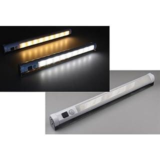 LED Unterbauleuchte mit Bewegungsmelder Batteriebet, 9 SMD LEDs, 80lm, weiß