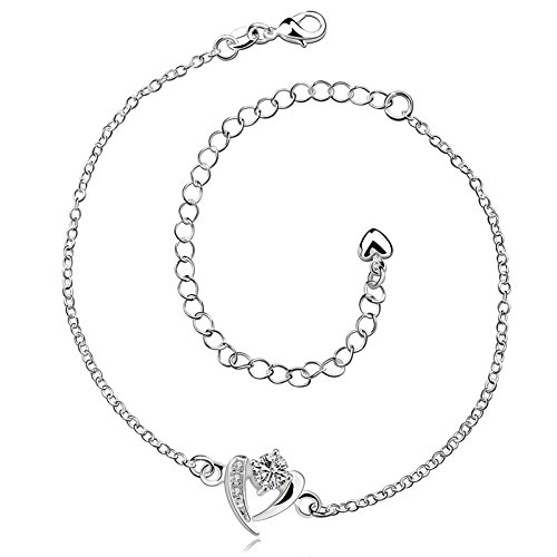 gnzoe-silver-plated-women-silver-beach-anklets-love-heart-inlaid-cubic-zirconia-silver-length-8-in