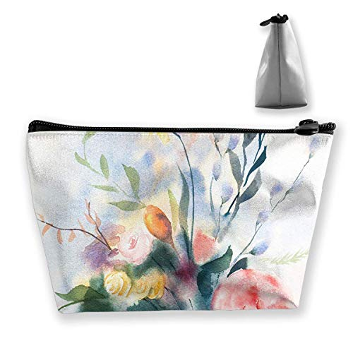 Storage Bag Wildflower Bouquet Abstract Floral Cosmetic Bags Outdoor Travel Organizer Bag Makeup Train Case Japan Wildflower