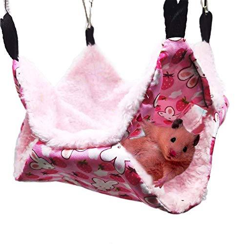 Oncpcare Hamac pour Animal Domestique, hamac à Sucre, Furet, lit superposé pour Chinchilla, Perroquet, écureuil, Rat, Dormir