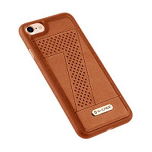 iPhone 8 Plus/ iPhone 7 Plus Cover Custodia in PU Navy Blue Opaco,Custodia Cover Slim anti scivolo custodia protezione Cover antiurto per iPhone 8 Plus/ iPhone 7 Plus 5.5 Braun