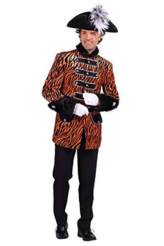 Thetru Herren Kostüm Husar Uniform Jacke Zebra orange Karneval Gr.XL