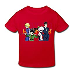 Kids Toddler Hunter X Hunter Little Boys Girls T Shirts Red Size 4 Toddler