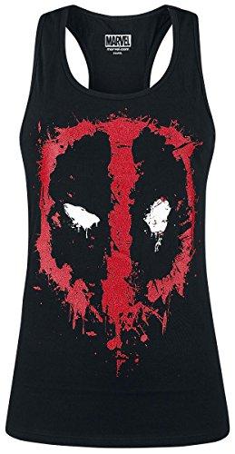 Deadpool Splatter Logo Top donna nero M