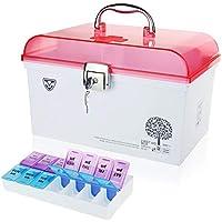 REAQER Medizin-Box Abschließbar Doppelschicht Erste Hilfe Koffer mit Griff mit Einlegefach Medizinbox Erste Hilfe-Aufbewahrungskasten... preisvergleich bei billige-tabletten.eu