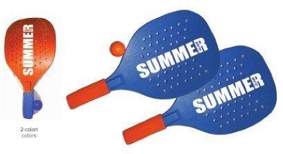 coppia racchette beach tennis summer slam colori assortiti sport one