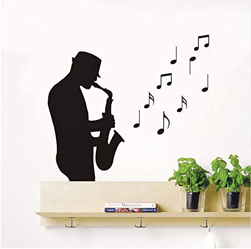 an Spielen Saxophon Wandaufkleber Für Kinder Roomsmusical Hinweis Wandtattoos Aufkleber Kunst Kindergarten Kinderzimmer Dekor Poster ()