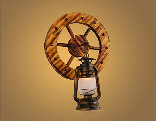 HIWW Lampes bambou de style japonais rural Wall Lamp Personnalité Créative Bar Cafe Aisle Bamboo Bois Applique Kerosene Lamp Eclairage mural