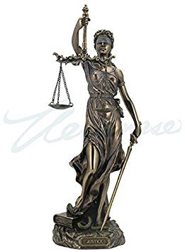 Cold Cast Bronze Cardinal Virtues Our Lady of Justice Statue Figurine, 11 3/4 Inch by Studio Collection by Veronese Design - Studio-cast-designs