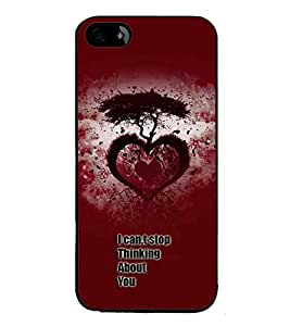 PrintVisa Designer Back Case Cover for Apple iPhone 5S (I Cannot Stop Thinking About You Quotation)