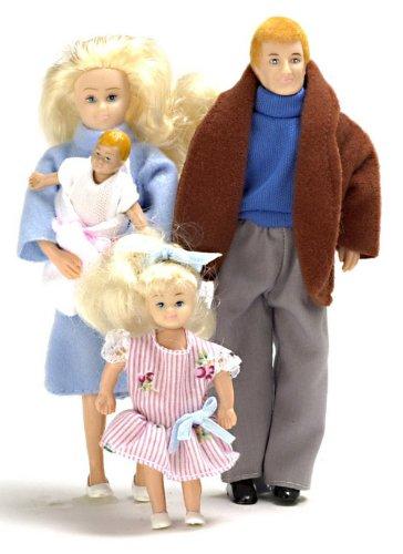 Town Square Miniatures - Puppenhaus Miniatur 1:12 Maßstab Moderne Familie Puppen 4 Leute Vater, Mutter Mädchen Tochter Puppenhaus 1 12 Maßstab Familie