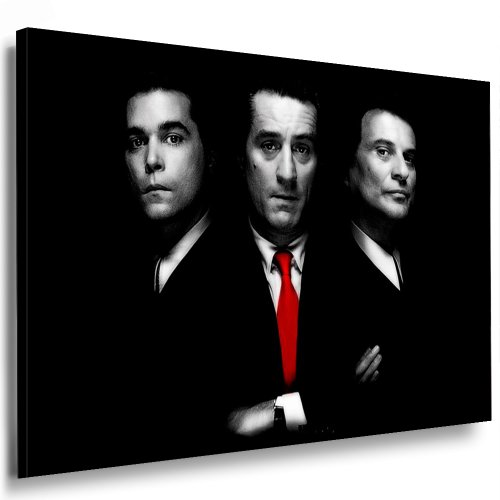Pop-art-foto (GoodFellas Kunst auf Leinwand Bild 100x70cm k. Poster ! Bild fertig auf Keilrahmen ! Pop Art Gemälde Kunstdrucke, Wandbilder, Bilder zur Dekoration - Deko. Film / Movie / Tv Stars Kunstdrucke)