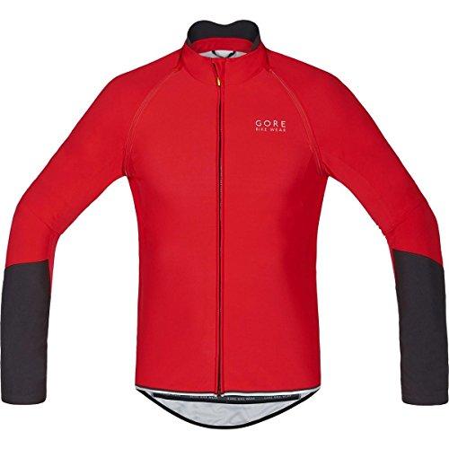 Gore Bike Wear 2 in 1 Herren Soft Shell Rennrad-Jersey, Gore Windstopper, Power WS so Zip-Off Jersey, Größe: XXL, Rot/Schwarz, SWZOPO