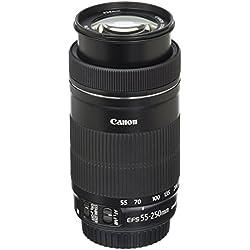Canon EF-S 55-250mm Objectif Noir