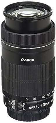 Canon 8546B002 - Objetivo para cámara réflex para Canon (distancia focal 55-250mm, apertura f/5.6, zoom óptico 4.5x,estabilizador óptico, diámetro filtro: 58mm) negro