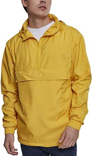 Urban Classics Herren Windbreaker Basic Pull-Over Jacket, leichte Streetwear Schlupfjacke, Überziehjacke für Frühjahr und Herbst Gelb (Chrome Yellow 01148)