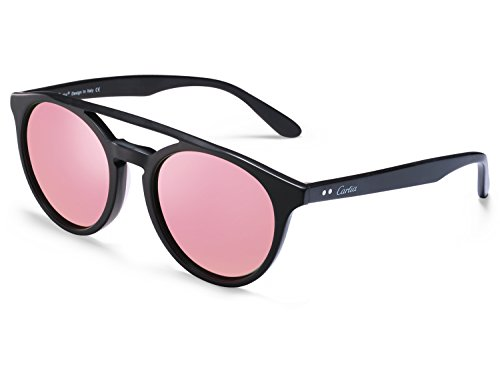 058a4c99de Carfia Retro Polarized Sunglasses Vintage Round Sunglasses for Womens Mens  Outdoor Fashion Glasses Eyewear Pink - Buy Online in KSA.