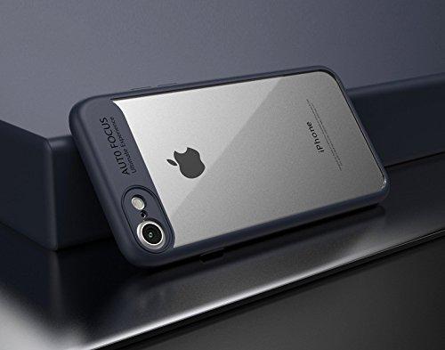 iPhone 8 Hülle, [Ultra Hybrid] Cover [Rot] inkl. Panzerglas Handyhülle TPU Bumper Tasche Panzerfolie Acryl Schutzhülle für iPhone 8 Case Cover [Red] Blau